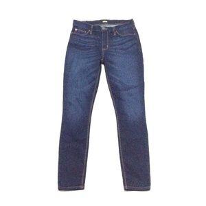 Hudson Midrise Crop Natalie Super Skinny Jeans